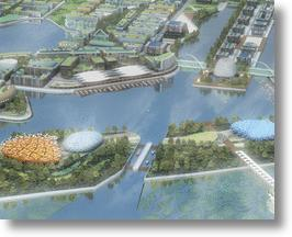 The Eco-City of Dongtan outside of Shanghai