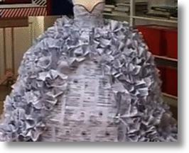 Wedding Dress Made of Divorce Papers