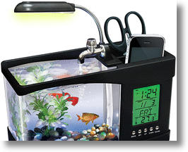 USB Fishquarium is cool and calming.