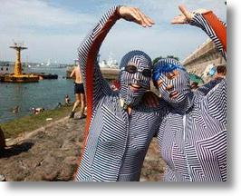"""Face-Kini"" Full Body Bathing Suits Flaunted by Fashionable Chinese Swimmers"