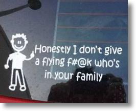 Stick This! The Top 10 Antisocial Stick Figure Family Decals
