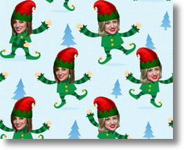 Gift Wrap My Face Custom Warapping Paper image via GWMF Facebook