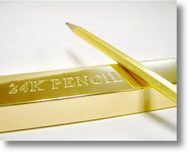 24 Karat Gold Pencils Make Great Gifts, Prove Your Precious Mettle