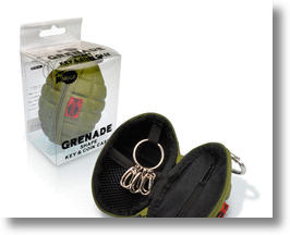 Hand Grenade Key & Coin Case Blows (Up) Your Cover