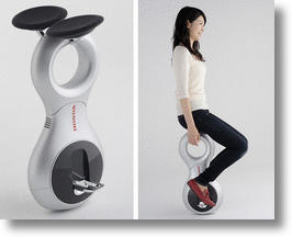 Honda Electric Unicycle Concept Gets the Elderly (and Everybody) Rolling