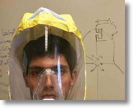Protective Ebola suit for healthcare workers, Johns Hopkins