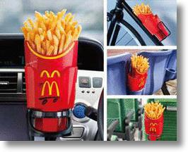 "McDonald's ""Potato Holder"" Fits Fries Above, Hands & Cupholders Below"