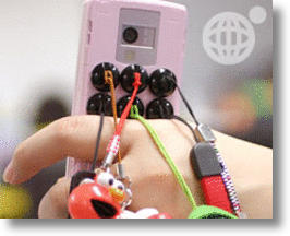 Add Phone Charms Japanese Style with Stick-On Adhesive Buttons