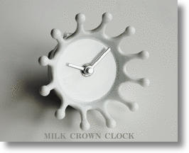 Milk Crown Clocks And Trays Make A Splash