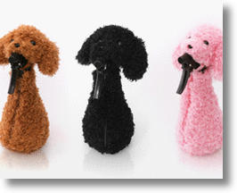 Poodle Dress-Up Spray Bottle Covers Make Cleaning Cuter