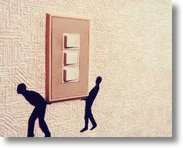 """Wall Story"" Removable Silhouette Stickers Turn On Your Light Switch"