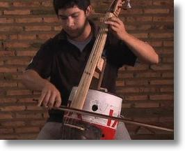 Juan Manuel Chavez Plays A Cello Made From Trash