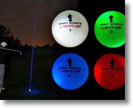 Night Sports Light-Up LED Golf Balls