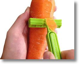 Men's Peeler Ensures Your Veggies Are Skin & Hair Free