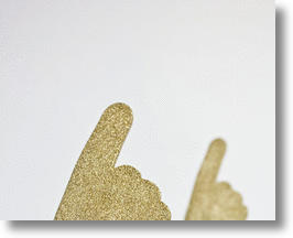 Mini Foam Glitter Fingers