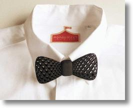 Black 3D Printed Clip-on Bow Tie from Monocircus of Japan