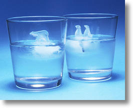 Polar Bear & Penguin Ice Cube Cups Raise Environmental Awareness While Cooling Your Drink