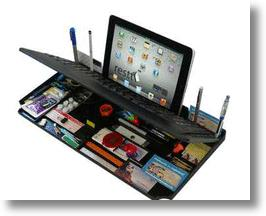 Bluetooth 6 in 1 Keyboard &amp; Organizer With Tablet Stand From myKeyO