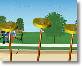 The coins! Do not let them fall!