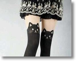 Black Cat Stockings Are Really Cute And That&#039;s No Stretch