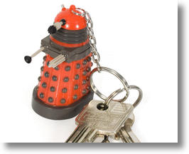 The Dalek keychain. Buy one or be exterminated.