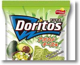 Doritos Avocado Cheese Tortilla Chips from Frito-Lay Japan