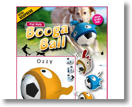 Italian Soccer Booga Ball Dog Toy