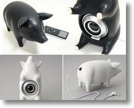 MP3 Pig Speakers Are Bacon For Your Ears