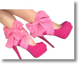 Hot Pink Chiffon Heel Condom