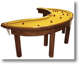 Banana-Shaped Pool Table