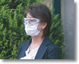 Anti-Allergy Mask & Goggles Combo Keeps Out Dust, Pollen and Germs