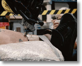 Getting a robotic tattoo (image via Vimeo screengrab)
