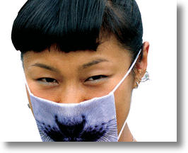 Funky, Fashionable Flu Mask