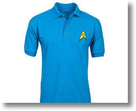Star Trek Original Series Blue Science Team Polo Shirt