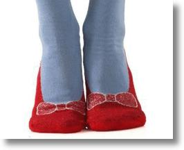 Ruby Slipper Socks