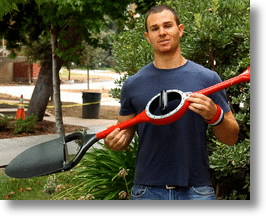 Inventor Stephen Walden and his Ergonomic Shovel