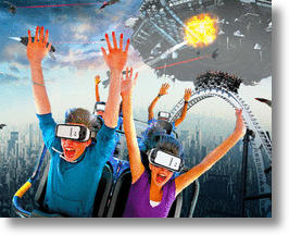 Six Flags & Samsung's Virtual Reality Coaster Rides (image via Six Flags Facebook)
