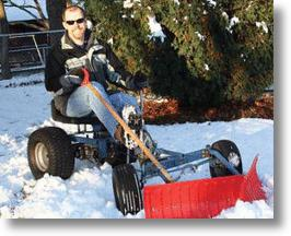 DIY Invention: Pedal-Powered Snowplow