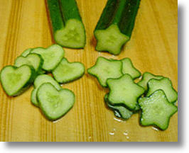 Love Cucumbers? Show It and Grow It with Heart Shaped Molds