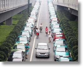Chinese Taxi Drivers Strike for Higher Fares, 'Gonna Get Organezized'