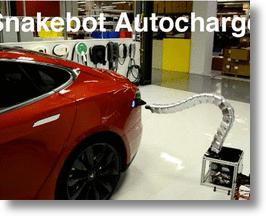 Tesla's Creepy Snakebot Charges Cars, Freaks Out Car Owners