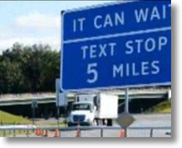 Sign Advising Text Stop Ahead