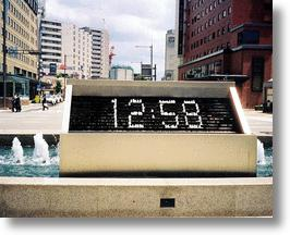 Kanazawa Station Fountain Clock - Time to Get Wet