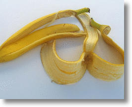 Banana peels: one type of garbage that can be used to make glass