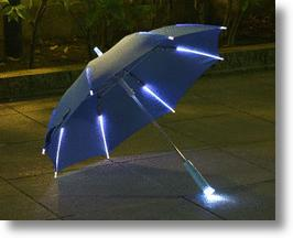 Children's Rainbow Flash LED Umbrella Makes Rainy Days More Fun