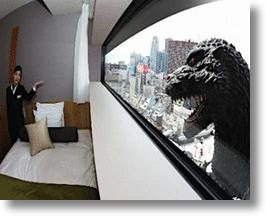 Tokyo Hotel Offers Rooms With A View... Of Godzilla!