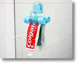 Toothpaste Holder &amp; Squeezer Is Good To The Last Drop