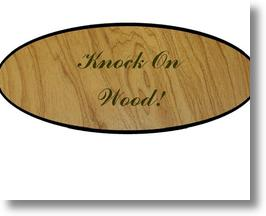 Knock on Wood! Car Plaque