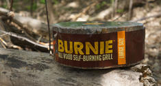 Burnie Is A Portable Self-Burning Camping Grill