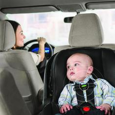 EvenFlo SensorSafe Car Seat With Baby